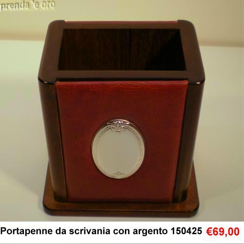 Portapenne legno pelle argento gioielleria prenda e oro - Portapenne da scrivania ...